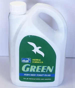 Elsan Green Herbal 2 Litre Toilet Fluid