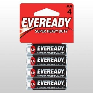 Eveready super AA batteries