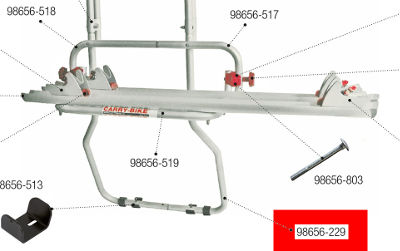 Fiamma Carry Bike Trafic D / DL - Lower Structure