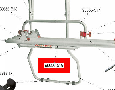 Fiamma Carry Bike Trafic D Rail Support frame
