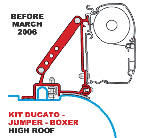 Fiamma Kit Ducato High Roof B4 03-2006