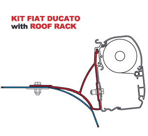 Fiamma Kit Ducato with Roof Rack