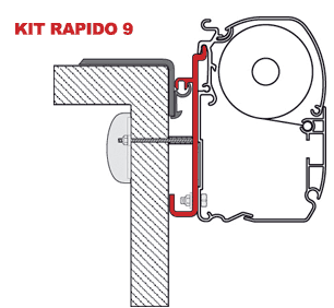 Fiamma Adapter Kit Rapido 9