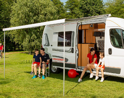 Fiamma F80 S Roof Awning - Deep Black Case