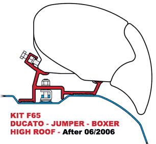 Kit F65 S Ducato High Roof Aft 06-06