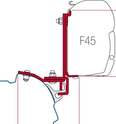 Fiamma Kit Multirail Reimo VW T5