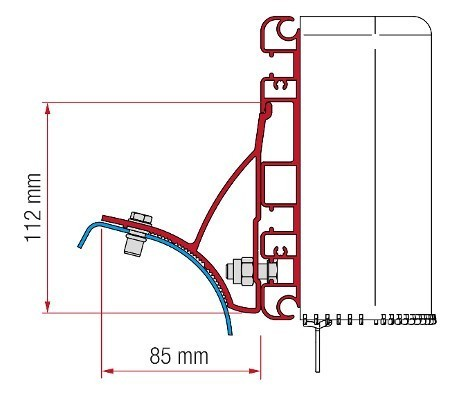 Fiamma Adapter Kit Trafic / Vivaro - Compass