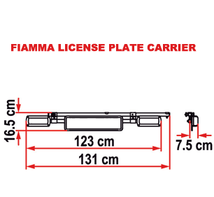 Fiamma License Plate Carrier