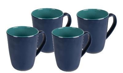 Kampa Artisan Mug Set - 4 x Aegean Mugs