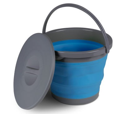 Kampa Silicone Bucket with Lid - 5L Blue