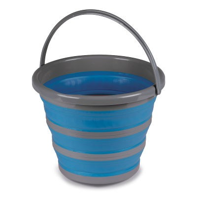 Kampa 10L Folding Silicon Bucket - Blue