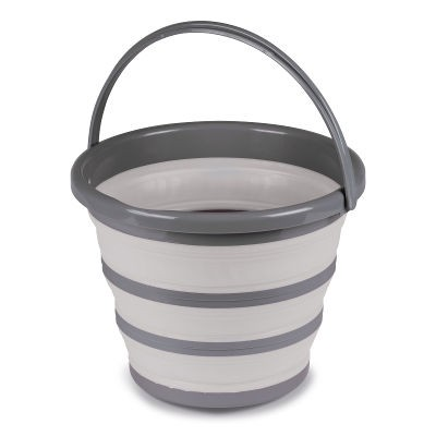 Kampa 10L Folding Silicon Bucket - Grey