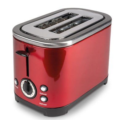 Kampa Deco Stainless Steel Toaster - Red