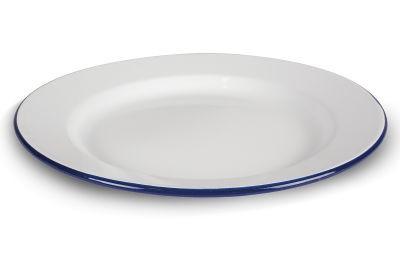 Kampa Enamel Dinner Plate - White