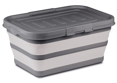 Kampa Large Collapsible Storage Box - Grey