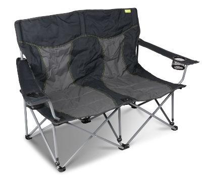Kampa Lofa Double Chair - Charcoal