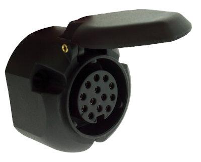 Maypole 13 pin socket 12v - Euro Towing Socket