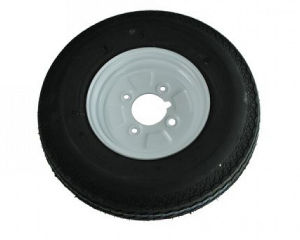 "400 x 8 Inch Trailer Wheel - 4 Stud 4"" PCD"