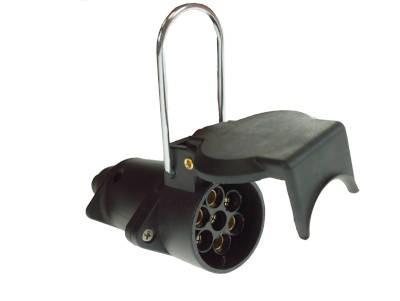 Haba 7 Pin Inline Trailer Coupling Socket - Black 12N
