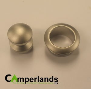 Mini Push Button Lock & Collar (Nickel)