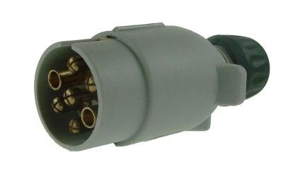 Maypole Towing Plug - Grey Plastic 7 Pin / 12S