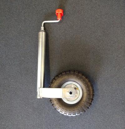 Pneumatic Steel Jockey Wheel Assembly - 48mm