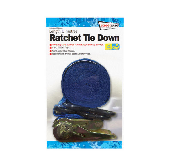 Ratchet Strap 5metre Tie-down with hooks