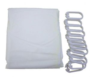 Shower Curtain & Hooks