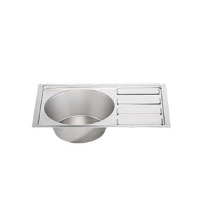 "Stainless Steel Sink and Drainer 21.75"" X 14"""