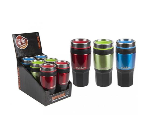 Summit 14oz/400ml Insulated Drinks Mug with Grip
