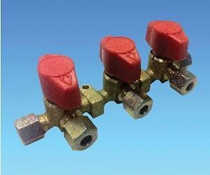 Caravan Motorhome Triple Three Way Gas Manifold Valve With Taps 8mm