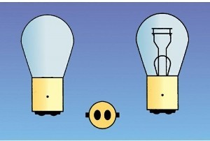 Dual wattage tailgate bulb ba15d 21/5 auto lamp