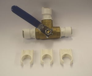 3 Way Push Fit Valve - 12mm