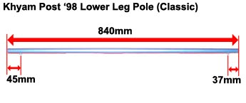 Khyam Post '98 Lower Leg Pole