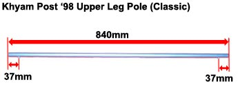 Khyam Post '98 Upper Leg Pole