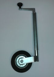 Metal Jockey Wheel Assembly - 34mm