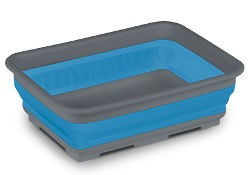 Kampa Collapsible Rectangular Washing Bowl - Blue