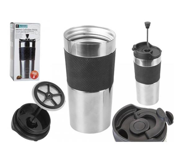 B&Co Hamelin 380ml Commuter Mug With Cafetiere Press