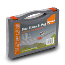 Kampa Steel Screw-in Peg Pack 20Pk