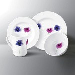Pansy 16pc 100% Melamine Diner set