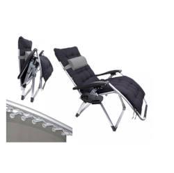 B&Co Shangri La Zero Gravity Chair,Side Table, Pillow Suede