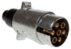 Aluminium Trailer plug 12v N type 7 pin