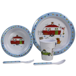 Kids 5 Piece Melamine Set - Charlie & Friends