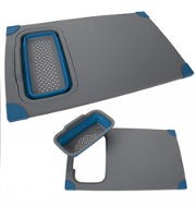 Pop Chopping board with folding Colander