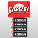 Eveready super AA batteries