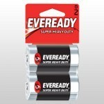 Eveready Super D cell batteries