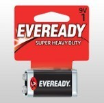 Eveready super 9 volt battery