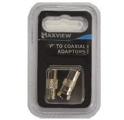 Maxview F to Coxial Adaptors