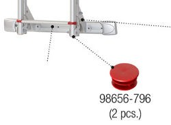 Fiamma Deluxe Ladder Red Finned End Cap - Pair