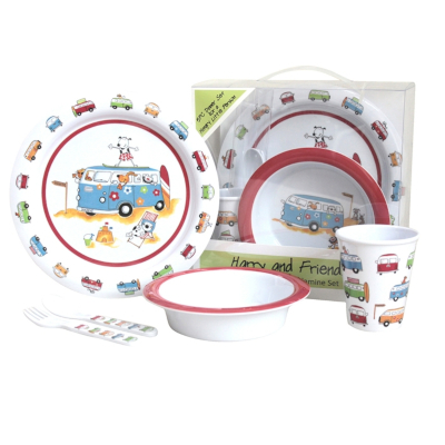 Kids 5 Piece Melamine Set - Harry & Friends